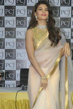 1551 Jacqueline Fernandez Designer Indian Bollywood Inspired Saree - Fashion Nation India  - 2