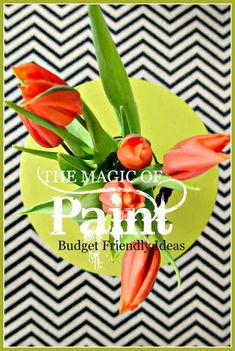 THE MAGIC OF PAINT-Budget friendly, easy to paint ideas-stonegableblog.com