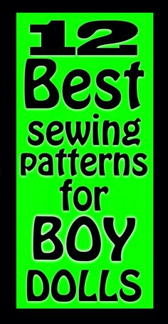 12 Best Sewing Patterns for BOY Dolls
