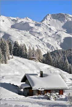 Poster Winterlandschaft, Schweiz