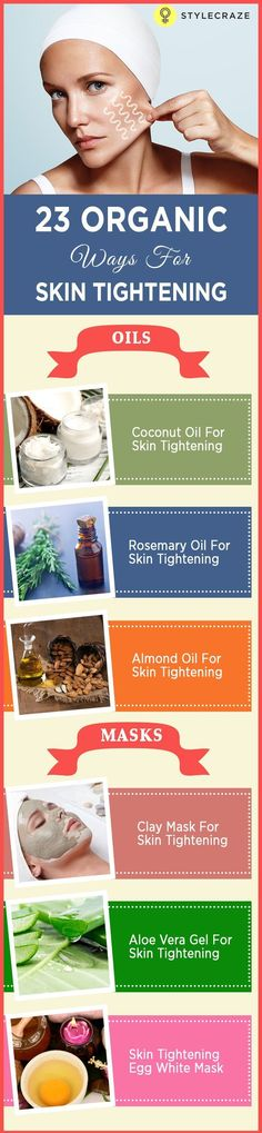 Both intrinsic and extrinsic factors play a role in causing your skin to become loose and saggy (1, 2, 3). Let us take a look at the home remedies that you can use to firm up and tighten your skin.   Find more stuff: skintightnaturals.com #acneneck #Naturalskinwhitening