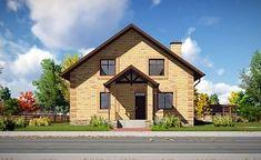 Проект дома C-143 - Проекты домов и коттеджей в Москве House Plans, Cabin, How To Plan, House Styles, Home Decor, Cottage Style Houses, House, Decoration Home, Room Decor