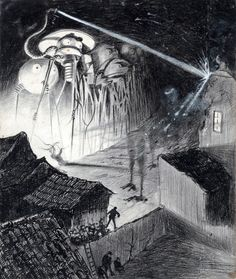 Henrique Alvim Corrêa - La Guerre des Mondes, 1906.(War of the Worlds)