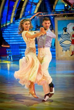 Abbey Clancy and Aljaz Skorjanec dance quickstep on Strictly Come Dancing, week 13, the final, 2013.