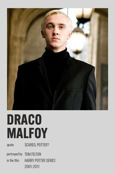 Harry Potter Movie Posters, Harry Potter Actors, Harry Potter World, Harry Potter Hogwarts, Movie Poster Room, Poster Wall, Draco Malfoy Quotes, Drago Malfoy, Imprimibles Harry Potter