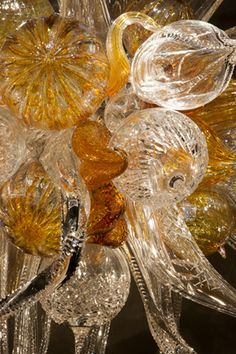 DALE CHIHULY Amber and Cut Crystal, 2006