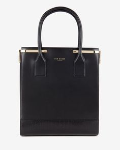 Textured leather shopper bag - Black   Bags   Ted Baker Ted Baker Totes,  Cute 49b398a8f6