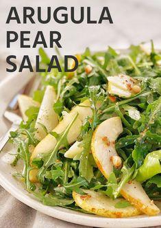 Arugula Salad Recipes, Vegetarian Salad Recipes, Salad Recipes For Dinner, Vegan Recipes Easy, Cooking Recipes, Easy Green Salad Recipes, Best Vegan Salads, Cleaning Recipes, Healthy Salads