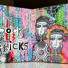 #mixedmediacafe #artchicksstudio #Badassstamps #MariekeBlokland
