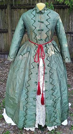 ANTIQUE PRE CIVIL WAR MATERNITY DRESS c.1840s VICTORIAN VINTAGE | eBay