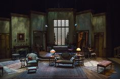 The Mousetrap scenic design by Jack Magaw Dinner Set Design, Stage Set Design, Set Theatre, Set Design Theatre, Design Research, Scenic Design, Design Reference, Lighting Design, Design Elements