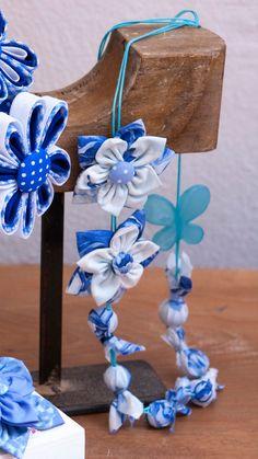 with tutorial Ribon Flowers, Cloth Flowers, Felt Flowers, Diy Flowers, Fabric Flower Necklace, Fabric Flower Pins, Fabric Jewelry, Diy Jewelry, Shabby Chic Flowers