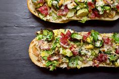 Little Market Kitchen: Brussels Sprout and Prosciutto French Bread Pizza