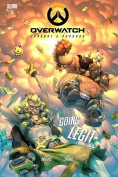 Overwatch Junkrat and Roadhog comic cover by GrayShuko