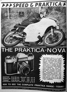 Antigua publicidad de camaras Praktica.