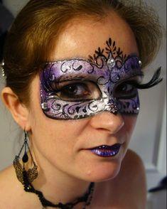 b59ffbf544 Lonnies Ansigtsmaling Maskerade maske Facepaint masquerade mask