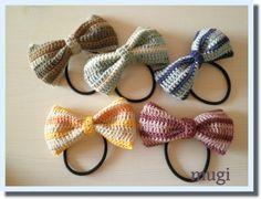 ボーダーの編みリボンゴム♪の作り方 編み物 編み物・手芸・ソーイング   アトリエ 手芸レシピ16,000件!みんなで作る手芸やハンドメイド作品、雑貨の作り方ポータル