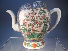 19th C Chinese Famille Rose Cadogan Puzzle Porcelain Teapot   eBay