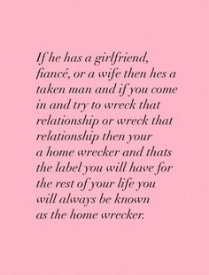 """He is clearly taken. You did not """"save"""" him from anything. You bought his lies. What a fool.So now, and forever, you will be known as a homewrecker. A thief. A trashy skank. is a homewrecker. Karma Quotes, Quotes To Live By, Me Quotes, Breakup Quotes, Save My Marriage, Marriage Advice, Citations Karma, He Has A Girlfriend, Girlfriend Quotes"""