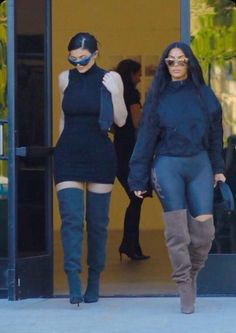 Family affair: Kim Kardashian and sister Kylie Jenner appeared to also have a similar taste in style as they left a meeting wearing ensembles from the upcoming Yeezy 7 collection in Calabasas, California on Tuesday Estilo Kardashian, Looks Kim Kardashian, Kim Kardashian Kylie Jenner, Kardashian Style, Moda Kylie Jenner, Looks Kylie Jenner, Kylie Jenner Style, Kendall Jenner Outfits, Yeezy Outfit
