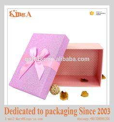 Cute Gift Box custom paper packaging box toy box printing with ribbon