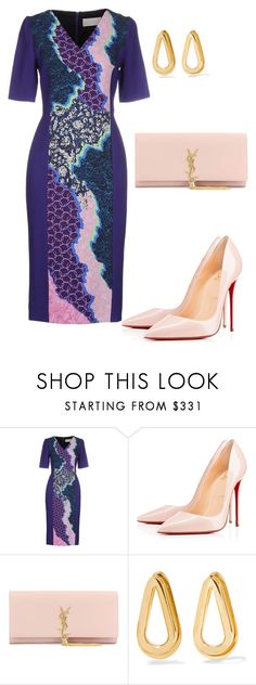 """style theory by Helia"" by heliaamado on Polyvore featuring moda, Peter Pilotto, Christian Louboutin, Yves Saint Laurent e Annelise Michelson"