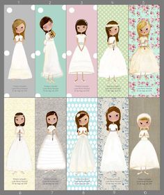 Herminia Esparza Ilustración : COMUNIONES First Communion Favors, First Holy Communion, Amigurumi Doll, Easter Crafts, Holidays And Events, My Images, Christening, Silhouette Cameo, Doll Patterns