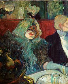 """Painting by H. de Toulouse- Lautrec, c.1899, """"Tête-à-tête"""", Lucy Jourdan at the…"""