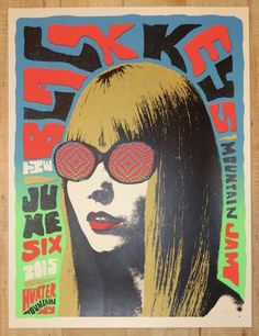 """The Black Keys - silkscreen concert poster (click image for more detail) Artist: Nate Duval Venue: Mountain Jam Location: Hunter Mountain, NY Concert Date: 6/6/2015 Size: 18"""" x 24"""" Edition: 1st; signe"""