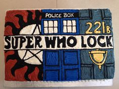 Supernatural, Doctor Who and Sherlock all rolled into one! The best reaction from the birthday girl makes all the hard work worthwhile! :)