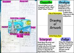 Inspired by masters. Not only do the kids recreate a famous work of art, they also describe, analyze, interpret and judge! (common core!)
