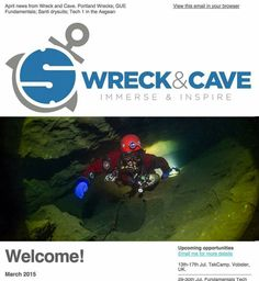 Christine Grosart, 2015 EWC and first annual EWLS photography contest winner, has also just been featured on the cover of Wreck & Cave Immerse & Inspire!