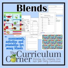Word Work with Blends - classroom centers, whole group instruction and small group ideas for teachers. Help students master blends during your reading workshop. All free from The Curriculum Corner! Reading Workshop, Reading Skills, Teaching Reading, Reading Groups, Reading Lessons, Schema Anchor Chart, Anchor Charts, 4th Grade Writing, 2nd Grade Reading
