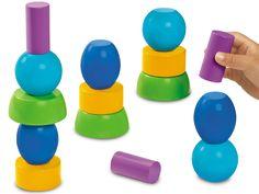 Stack & Balance Toddler Blocks at Lakeshore Learning Preschool Science Activities, Motor Activities, Preschool Classroom, Preschool Art, Play Activity, Activity Ideas, Blocks For Toddlers, Happy At Work, Lakeshore Learning
