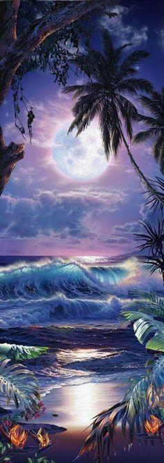 Christian Reese Lassen is a featured artist at the Kona Oceanfront Gallery in Kailua Kona, Hawaii Beautiful Paintings, Beautiful Landscapes, Hawaiian Art, Tropical Art, Surf Art, Jolie Photo, Seascape Paintings, Fantasy Landscape, Ocean Art