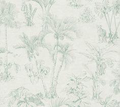RW6930 Jungle Scene Cuba, Quirky Wallpaper, Jungle Scene, Wallpaper Paste, Wallpaper Roll, Pip Studio, Room Colors, Vinyl, Decoration