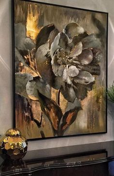 Big Canvas Art, Acrylic Painting Flowers, Modern Art Paintings, Fantasy Paintings, Found Art, Painting Wallpaper, Mural Art, Flower Art, Watercolor Art
