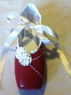 Red Velvet Cake ... Decorated Pointe Shoe by JazzedUpPointes,