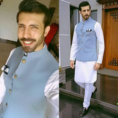 This post features best Pakistani pathani suits and pathani kurta designs 2020 for party wear and wedding. Mens Indian Wear, Mens Ethnic Wear, Indian Men Fashion, Mens Fashion Suits, Men's Fashion, Indian Groom Dress, Wedding Dresses Men Indian, Wedding Dress Men, Wedding Men