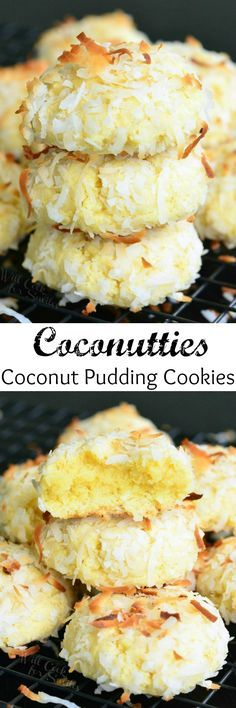 Coconutties - Coconut Pudding Cookies. It's hard to keep your hands away from…