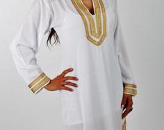 CIJ verkoop Mariam stijl zwarte kaftan Kaftan door MaisonMarrakech