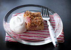 rhubarb kuchen - buttery, sweet, tart and oh soo good Rhubarb And Custard, Rhubarb Cake, Delicious Desserts, Dessert Recipes, Rhubarb Recipes, Time To Eat, Sweet Tarts, Recipe Using, Food Processor Recipes