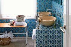 Arredare il bagno in stile etnico - Piastrelle colorate per il bagno