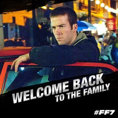 Lucas Black aka Sean Boswell known from 'The Fast and the Furious: Tokyo Drift' is back behind the wheel for 'Fast & Furious and beyond.so now we have the full family arc Fast Furious 1, Movie Fast And Furious, Furious Movie, The Furious, Paul Walker Images, Rip Paul Walker, Cody Walker, Epic Movie, Love Movie