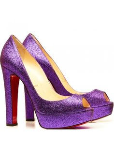 71d5c1edc02 Christian Louboutin  Bambou  Glitter Peep Toe (rePinned 091513TLK) Converse  Violet