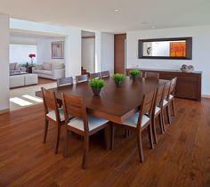 Beautiful organic dining room in wood.