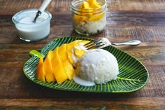 Seasaltwithfood: Sweet Sticky Rice With Coconut And Mango~{Khao Niaw Mamuang}
