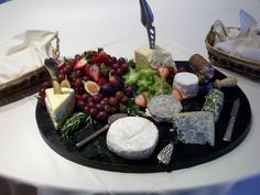 Vermont and NH boutique cheese presentation w/ fruit