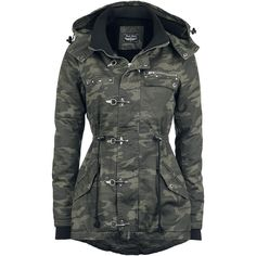 "Rock Rebel by EMP Winterjacke, Frauen ""Carabiner Jacket"" camouflage • EMP"
