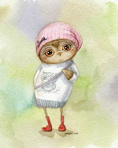cute owl by Inga Paltser